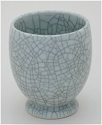 Crackle Blue Tea Mug