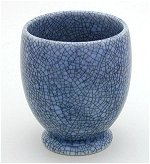 Crackle Lavender Tea Mug